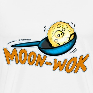 MoonWOK MoonWALK funny bright comic drawing  - Men's Premium T-Shirt