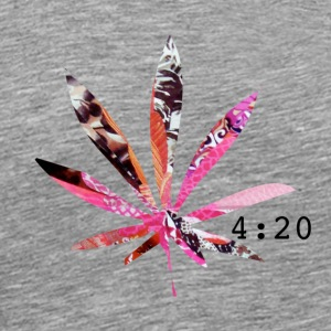 PSYCHEDELIC 420 POT LEAF T-Shirts - Men's Premium T-Shirt