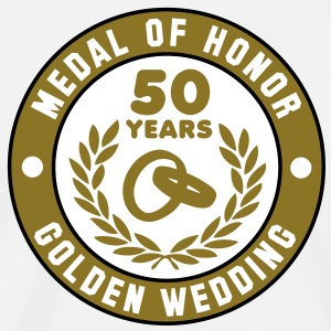 MEDAL OF HONOR 50th GOLDEN WEDDING 3C T-Shirt - Men's Premium T-Shirt