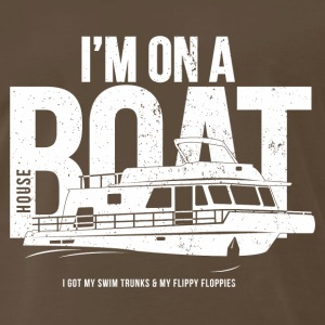 I'm on  house boat - Men's Premium T-Shirt