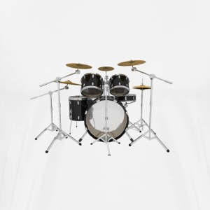 Black Drum Kit: T-Shirt - Men's Premium T-Shirt