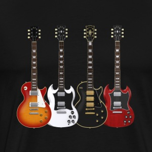 Four Electric Guitars: T-Shirt - Men's Premium T-Shirt