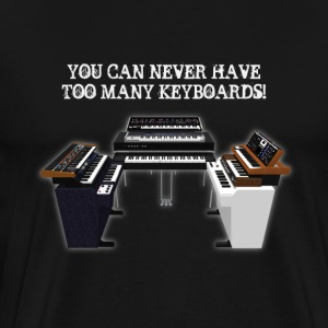 Vintage Keyboards / Synthesizers: T-Shirt - Men's Premium T-Shirt