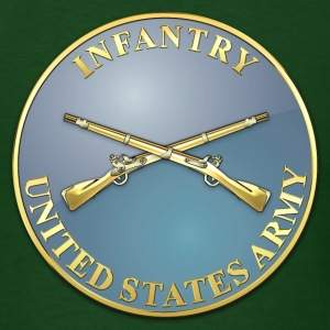 Infantry Branch Plaque - Men's T-Shirt