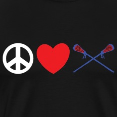Peace Love Lacrosse T-Shirt