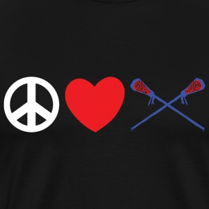 Peace Love Lacrosse T-Shirt - Men's Premium T-Shirt