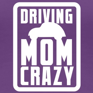 CAR driving mom mommy CRAZY! in pink for kids Women's T-Shirts - Women's Premium T-Shirt
