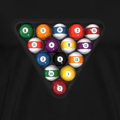 Billiards / Pool Balls: T-Shirt