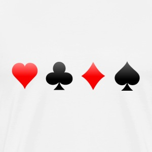 Playing Card Suits: T-Shirt - Men's Premium T-Shirt