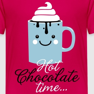 i heart hot chocolate cream winter food t-shirts Kids' Shirts - Kids' Premium T-Shirt