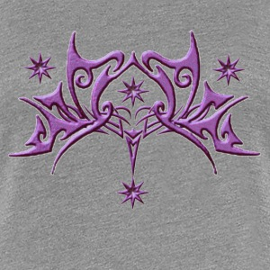 Womens Purple glitter stars - Women's Premium T-Shirt