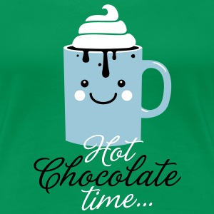 i heart hot chocolate cream winter food t-shirts Women's T-Shirts - Women's Premium T-Shirt
