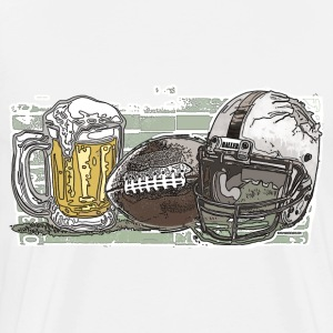Beer and Football - Men's Premium T-Shirt