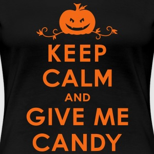 Keep Calm and Give Me Candy Halloween Women's T-Sh - Women's Premium T-Shirt