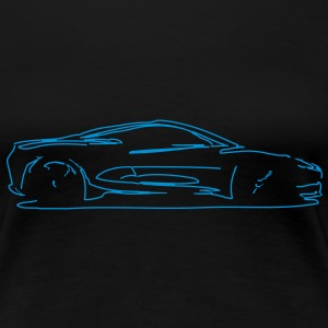 Car Sketch Women's T-Shirts - Women's Premium T-Shirt