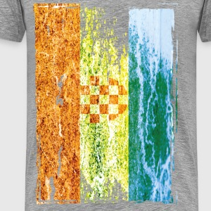 Croatian flag vintage look T-Shirts - Men's Premium T-Shirt