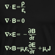 Design ~ Maxwell's Equations - Differential Form (Glow in the Dark)