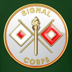 Signal Corps Branch Plaque - Men's T-Shirt