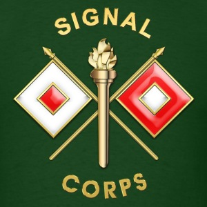 Signal Corps Branch Insignia - Men's T-Shirt