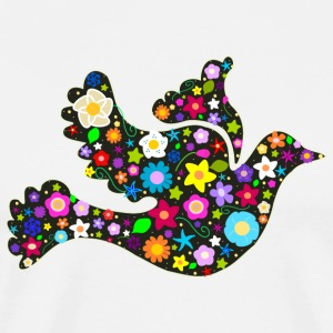 Floral bird of peace - Men's Premium T-Shirt