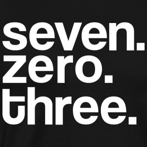 DMV Seven Zero Three Mens Tee Shirt by AiReal  - Men's Premium T-Shirt