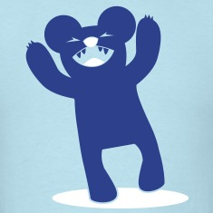 scary bear roaring with arms up kawaii! T-Shirts