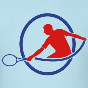 tennis man hitting swing hit T-Shirts - Men's T-Shirt