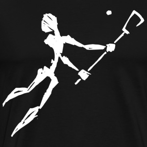Lacrosse Player T-Shirt - Men's Premium T-Shirt