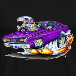Plymouth Duster Purple Car T-Shirts - Men's Premium T-Shirt