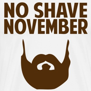 No Shave November T-Shirts - Men's Premium T-Shirt