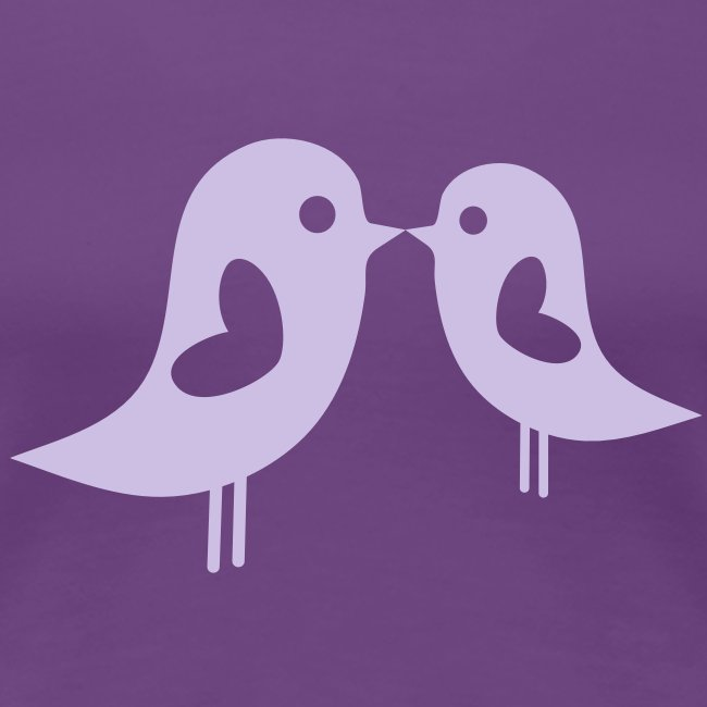 Love Birds (Purple) Women's Classic T-Shirt