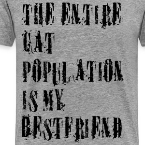 the entire cat population is my bestfriend T-Shirts - Men's Premium T-Shirt