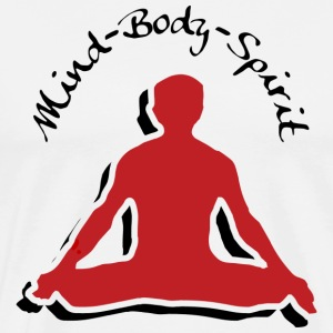 Mind Body Spirit Yoga T-Shirt - Men's Premium T-Shirt