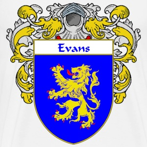 Evans Coat of Arms/Family Crest - Men's Premium T-Shirt