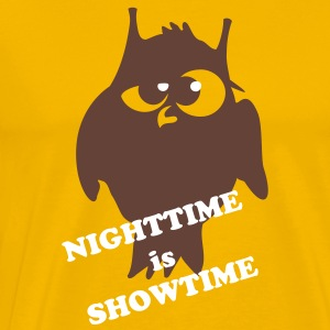 night owl black and white - 2 Colors T-Shirts - Men's Premium T-Shirt