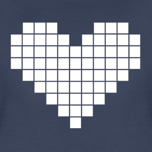 Pixel Heart - White - Women's Premium T-Shirt