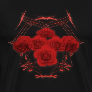 Roses and Tribal Graphics: T-Shirt - Men's Premium T-Shirt