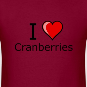 i love cranberries on Thanksgiving Turkey day  T-S - Men's T-Shirt
