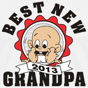 Best New Grandpa 2013 T-Shirt - Men's Premium T-Shirt