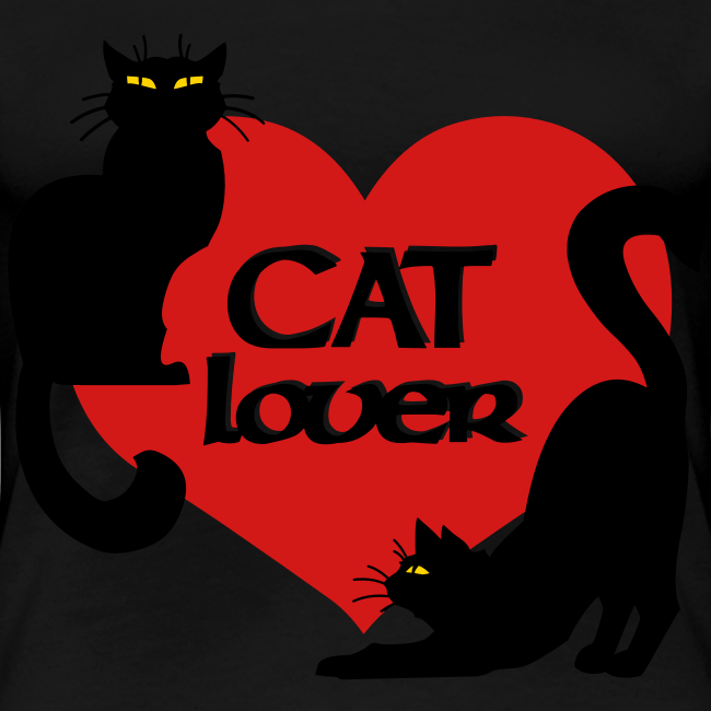 Cat Lover Shirts Women's Plus Size Cat T-shirt