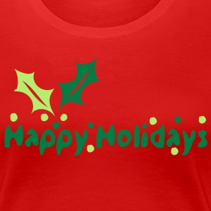 Happy Holidays Women's Classic T-Shirt - Women's Premium T-Shirt