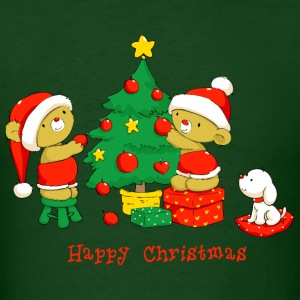 Christmas Bears decorating Tree T-Shirts - Men's T-Shirt
