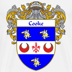 Cooke Coat of Arms/Family Crest - Men's Premium T-Shirt
