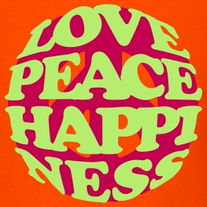 love_peace_happiness T-Shirts - Men's T-Shirt