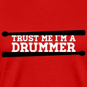I am with the drummer T-Shirts - Men's Premium T-Shirt
