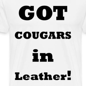 Cougars in Leather 2    BLA224 - Men's Premium T-Shirt