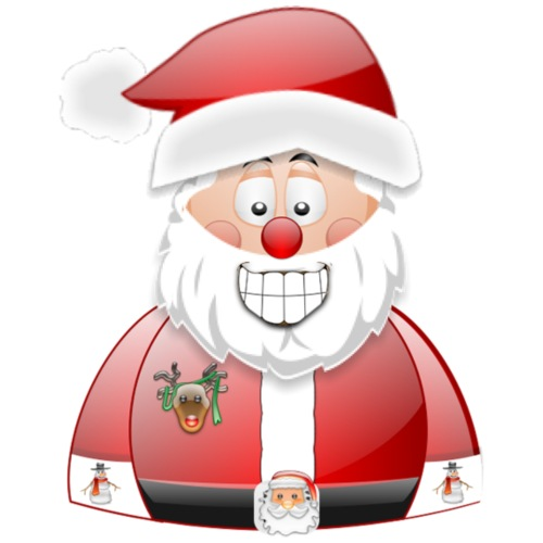 Smily Santa father christmas with raindeer badge