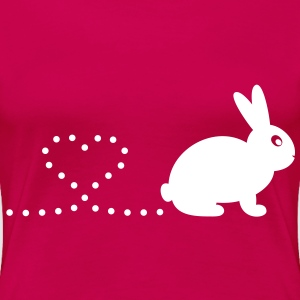 'Pooping Heart Rabbit' Ladies Plus-Size T-Shirt - Women's Premium T-Shirt