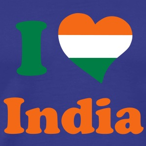 india_heart_eng_3clr T-Shirts - Men's Premium T-Shirt
