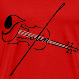 The Violin With Strings T-Shirts - Men's Premium T-Shirt